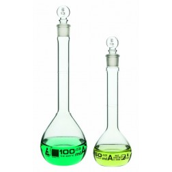 Eisco Class A Glass Volumetric Flasks with White Graduations, 500 mL