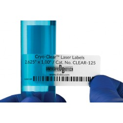 Cryo-Clear Laser Labels 2.625in x 1.00in 600/pk