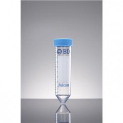 High Clarity PP Centrifuge Tube, Conical Bottom, with Dome Seal Screw Cap, Sterile, 15mL (50/Rack;