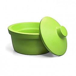Ice Bucket with Lid, Round, 2.5L, Lime Green