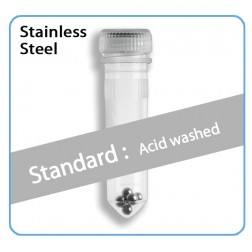 Prefilled 2.0ml tubes, Stainless Steel, 2.8mm Acid Washed, 50pk, PK/50