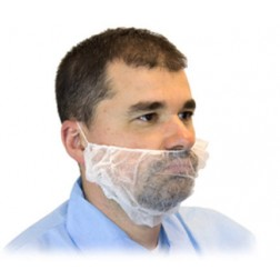 Beard Covers, 18in. White, CS1000