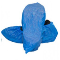 Shoe Covers, Disposable, Non-Slip, Blue, Large, CS300