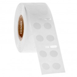 Dymo compatible deep freeze thermal labels 0.35in./9mm circle (2 across), 1 roll, 2,000 labels/EA