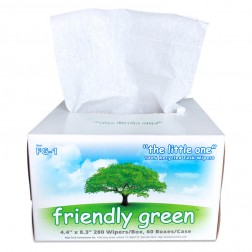 Wipes, 4.4in. X 8.3in., 100% Recycled & Biodegradable Wipes,280/Box, 60 Boxes/Case; 23 Lbs., CS/16