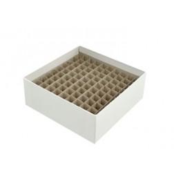 2in Freezer Box w/81 hole divider