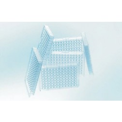 CELLCULTURE MICROPLATE,96 WELL, PS, F-BOTTOM (CHIMNEY WELL), CLEAR, CELLSTAR®, TC, LID WITH