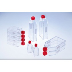 CELL CULTURE FLASK, 550ML, 175 CM², PS, RED FILTER SCREW CAP, CLEAR, CELLSTAR TC, FLAT FLASK