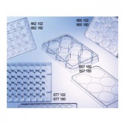 CELL CULTURE MULTIWELLPLATE, 12 WELL, PS, CLEAR, CELLSTAR®, TC, LID WITH CONDENSATION RINGS,