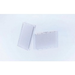 384 Well Small Volume™Cycloolefin Acoustic Storage Plate, Solid Bottom, TC treated, Sterile, Clear