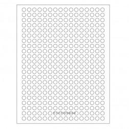 Cryo laser labels 0.35in./9mm circle, 16 sheets/PK, 5,632 labels/PK