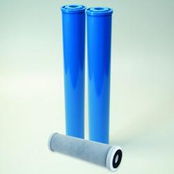 """Cartridge Replacement Kit for HY-122-DI (10"""" Carbon, (2) 20"""" Mixed Bed DI) - 2-1/2"""" Diameter"""