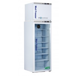 12 Cu. Ft. Premier Pharmacy Combination Refrigerator/Freezer; Glass Door Refrigerator/Solid Door F