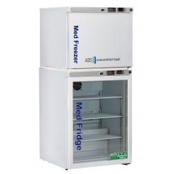 7 Cu. Ft. Premier Pharmacy Combination Refrigerator/Freezer; Glass Door Refrigerator/Solid Door Fr