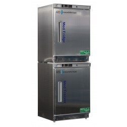 9 Cu. Ft. Premier Pharmacy Combination Refrigerator/Freezer; 2 Solid Stainless Steel Doors; Left H