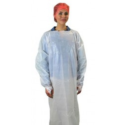 One-size 55in Long CPE Isolation Gown, PK25