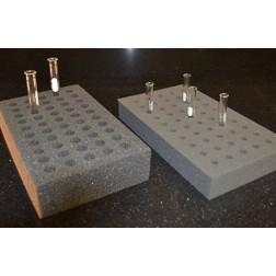 Foam Test Tube Racks, Small, 9x5.25x1.25in., 9mm holes, 50-tube capacity, 6/carton
