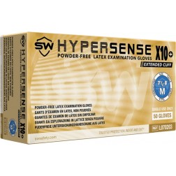 5 CASE MINIMUM ORDER ON ALL SW SAFAETY GLOVES - SW Hpersense X10+ Exam Glove, Small, PK50 CS500