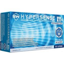 5 CASE MINIMUM ORDER ON ALL SW SAFAETY GLOVES - SW Hpersense X11+ Exam Glove, Small, PK50 CS500