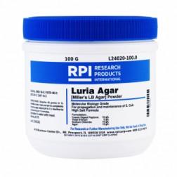 Luria Agar Powder, Miller's LB Agar, 100 Grams CAS# 91079-40-2; 8013-01-2; 7647-14-5; 9002-18-0