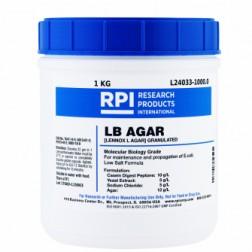 LB Agar, Low Salt Formula, Granulated, Lennox L Agar, 1 Kilogram CAS# 91079-40-2, 8013-01-2, 7647-