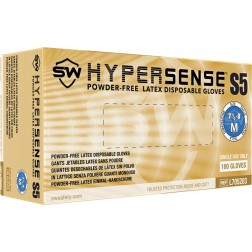 5 CASE MINIMUM ORDER ON ALL SW SAFAETY GLOVES - SW Hypersense S5 Industrial Glove, Medium, PK100,