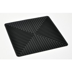 Large Size Black Laboratory Mat. 13.5 x 13.5 x.1 EA