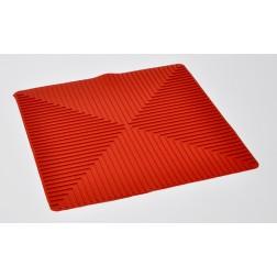 Standard Size Red Laboratory Mat 9.5 x9.5 x .1  EA