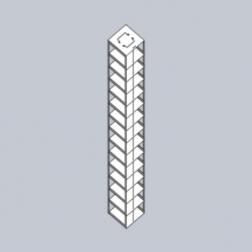 Rack Only, Box Capacity 14, EA1