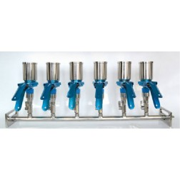 Manifold, Supports, Funnels and Clips, 6-Place