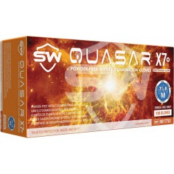 SW Quasar X7, Nitrile Exam Glove, M, PK100, CS1M
