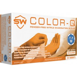 SW ColorQ Orange, Nitrile Exam Glove, L, PK100, CS1M