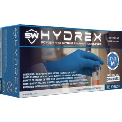 SW Hydrex, Nitrile Exam Glove, XL, PK50, CS500
