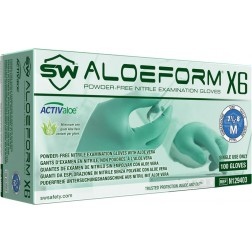 5 CASE MINIMUM ORDER ON ALL SW SAFAETY GLOVES - SW AloeForm X6, Nitrile Exam Glove, 2XL, PK100, CS