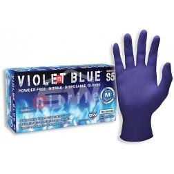 SW Violent Blue S5, Nitrile Industrial Glove, XL, PK100, CS1M