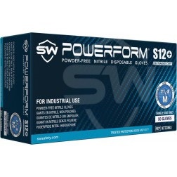 5 CASE MINIMUM ORDER ON ALL SW SAFAETY GLOVES - SW PowerForm S12+, Nitrile Industrial Glove, 3XL,