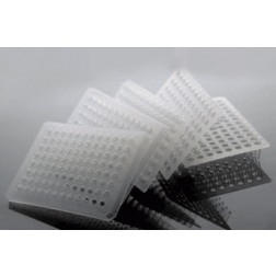 0.1ml 96 Well PCR Plate, Semi Skirt, Clear, 25/pk, 100/cs