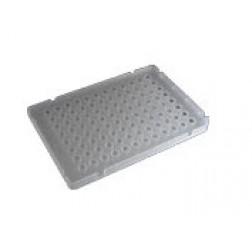 100ul 96-well PCR Half Skirt, Elevated Wall (ABI style)  Amplification Plate, PP Clear; 10 Plates