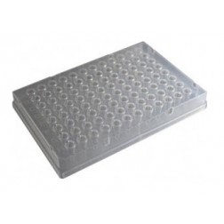 100ul 96-well PCR Full Skirt Amplification Plate, PP Clear; 10 Plates Per Unit.  5 Units Per Case