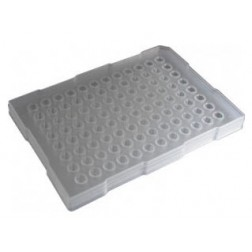 200ul 96-well PCR Half Skirt, Elevated Wall (ABI style)  Amplification Plate, PP Clear; 10 Plates