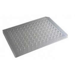 200ul 96-well PCR Half Skirt Amplification Plate, PP Clear; 10 Plates Per Unit.  5 Units Per Case