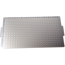 Silicone Sealing Mat, 384-well, Round for PCR, Printed Alpha-numerics; 10 Mats/Bag, 5 Bags/Case CS