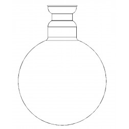 Receiving flask, 2000ml, KS 35/20