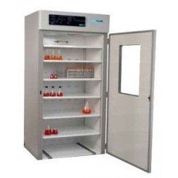 LABORATORY INCUBATOR, LARGE CAPACITY, 30.8 CU FT,  SOLID DOOR w/ VIEW, ROLL-IN FLOOR, OUTLET, ACCE