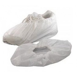 Co-Polymer Shoe Cover, White, Size L