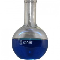 Borosilicate Glass Flat Bottom Flask 500ml