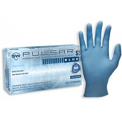 SW Pulsar SS Blue Industrial Glove, Medium, PK100, CS1M