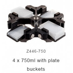 4 x 750 swing out rotor with buckets, EA /1