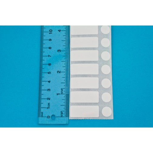 Thermal transfer cryo transparent labels 1.25 x 0.5// 31.8mm x 12.7mm